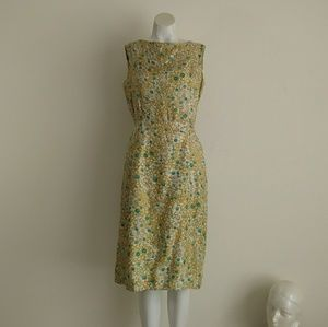 Vintage 50s silk novelty print bubble dots dress